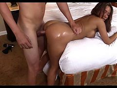 Incredibly Hot Brunette Takes One In The Ass