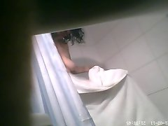Hidden cam milf boobs in bathroom