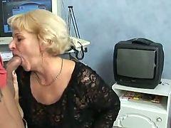Blond Granny Suck And Fuck