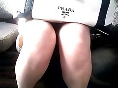 Upskirt in bus