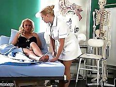 Horny Milf Has Amazing Toe Fucking Treatment From Hot Nurse