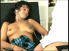 SEXY MOM 51 brunette mature loves gynecologist