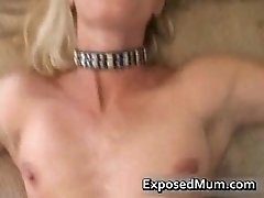 Milf blonde babe drilled pov style by exposedmum