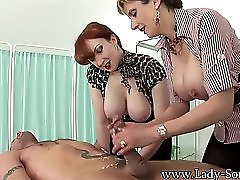 Milfs Lady Sonia And Red Jerk Off Big Cock