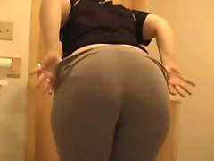 Wife shows her kinky fat ass