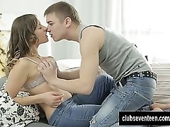 Teen Adelle gets pussy fucked and cummed