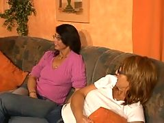 3 Horny German Moms Having Fun With A Dildo
