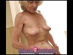 ILoveGranny Old woman lady and mature showing her naked body
