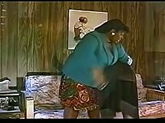 Blond spanked by big mama