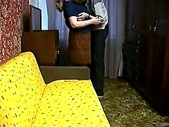 Russian Mature Mother Seduce Young Boy