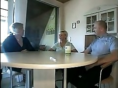 The host helps an old couple have sex
