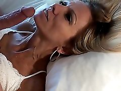Petite mature blonde POV facial and replay