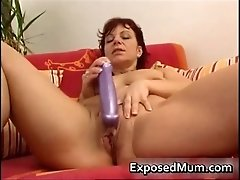 Toy drilling mum spreading her snatch 5 by exposedmum