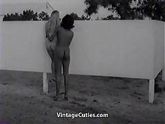 Naked Nudist Girls Messing Around 1960s Vintage