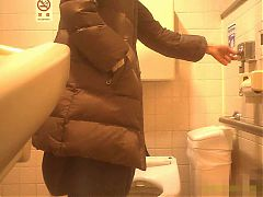 Public Rest Room Mature Mom