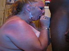 White slutty granny face fucked & eats cum CassianoBR