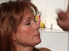 One hour milfs facials compilation
