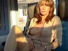 Amateur milf public in the train