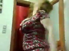 Arab wife dancing