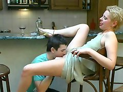 Bar sex she swallows