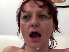 Five cocks for a mature slut