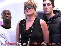 Mature En Gang Bang Prise Par Tous Les Trous !!! French Amateur