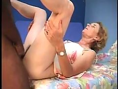 BBC Smashes Mature Blonde