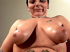 Granny loves her big toys in her wet pussy