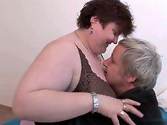Mature BBW enjoying sex