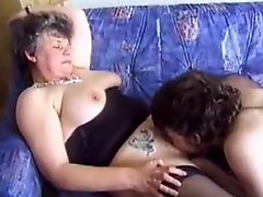 Mature Seduces Young Guy With Porn