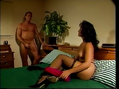 2 brunettes get their asses and pussies licked and fucked