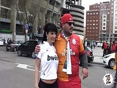 Amanda X Real Madrid girl fanatic having sex AmandaX folla a un aficionado