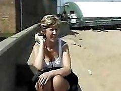 Sara at the beach