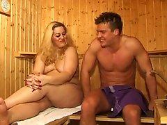 Chubby Milf Fuck In Sauna