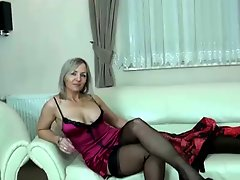 Milf ALA in top stockings & heels