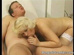 Horny slutty blonde woman gets wet twat hammered hardco