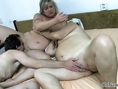 Nasty Old Whores Go Crazy Getting Fucked In A 3some By