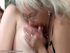 Sexy Teen Girl Gets Her Tits Rubbed And Sucked By Old W