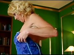 Mature Julia Hilton Seduces Young Man