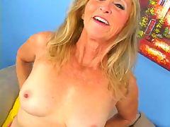 Blonde Granny Loves Cum