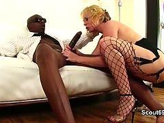 Black Monster Dick fucks german Milf in sexy lingerie