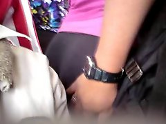 Groped The Best Big Ass Milf Of The Leggins On The Bus 2