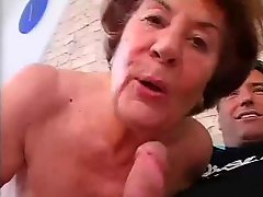 Tall German Granny In Hard Anal Sex With Young Man