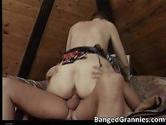 Horny Brunette MILF Slut Takes Massive Cock Deep In Wet