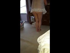 My Hairy BBW Wife Dresses In See Through Lingerie