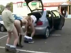 Slut Wife Dogging With A Lot Of Men In Parking Amateur