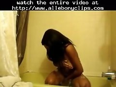 Showertime Black Ebony Cumshots Ebony Swallow Interraci