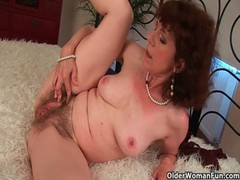 Sex starved granny fucks her toy boy
