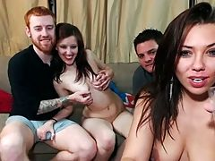 Amatuer College 2 Girls 2 Guys Orgy