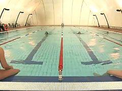 Swimming pool gangbang
